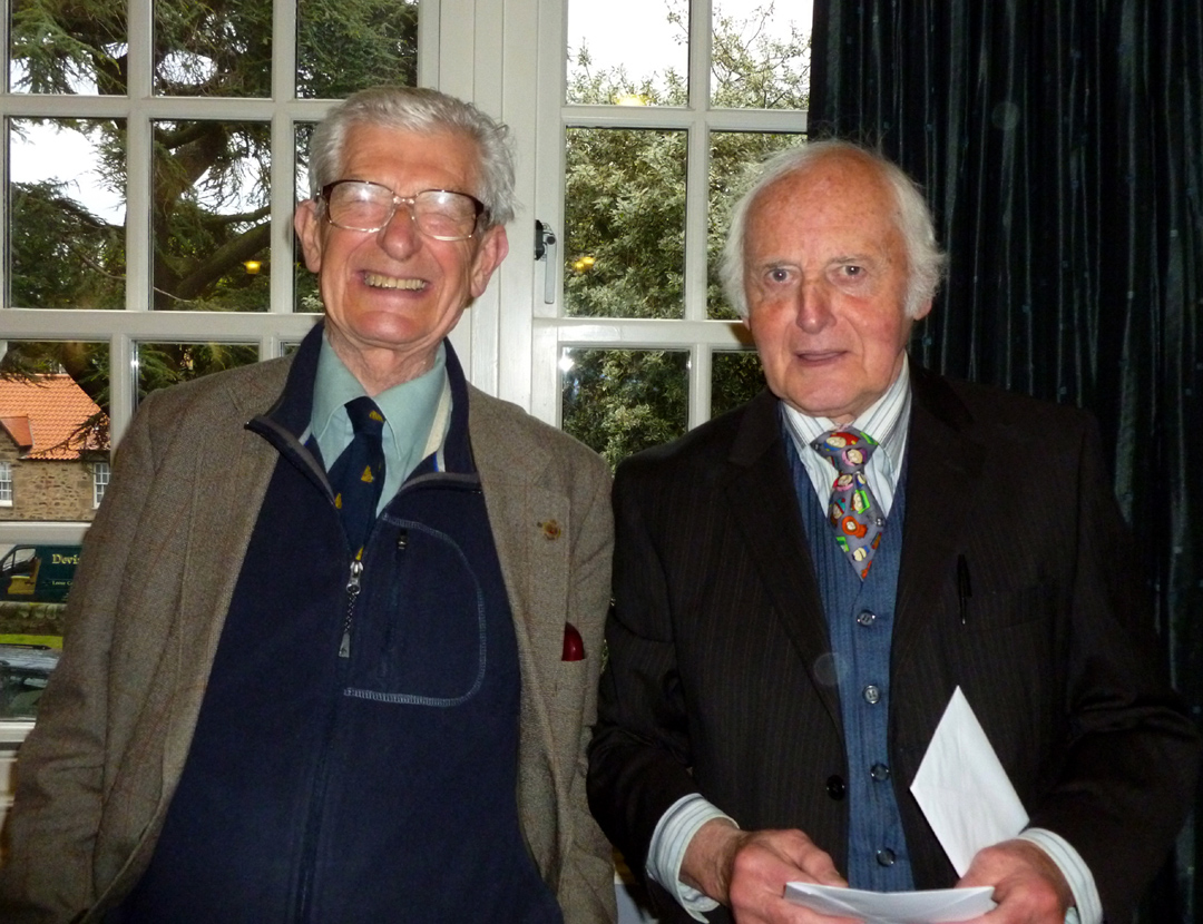 And Finally - Dave at a sprightly 75, here with Ron Livesey.