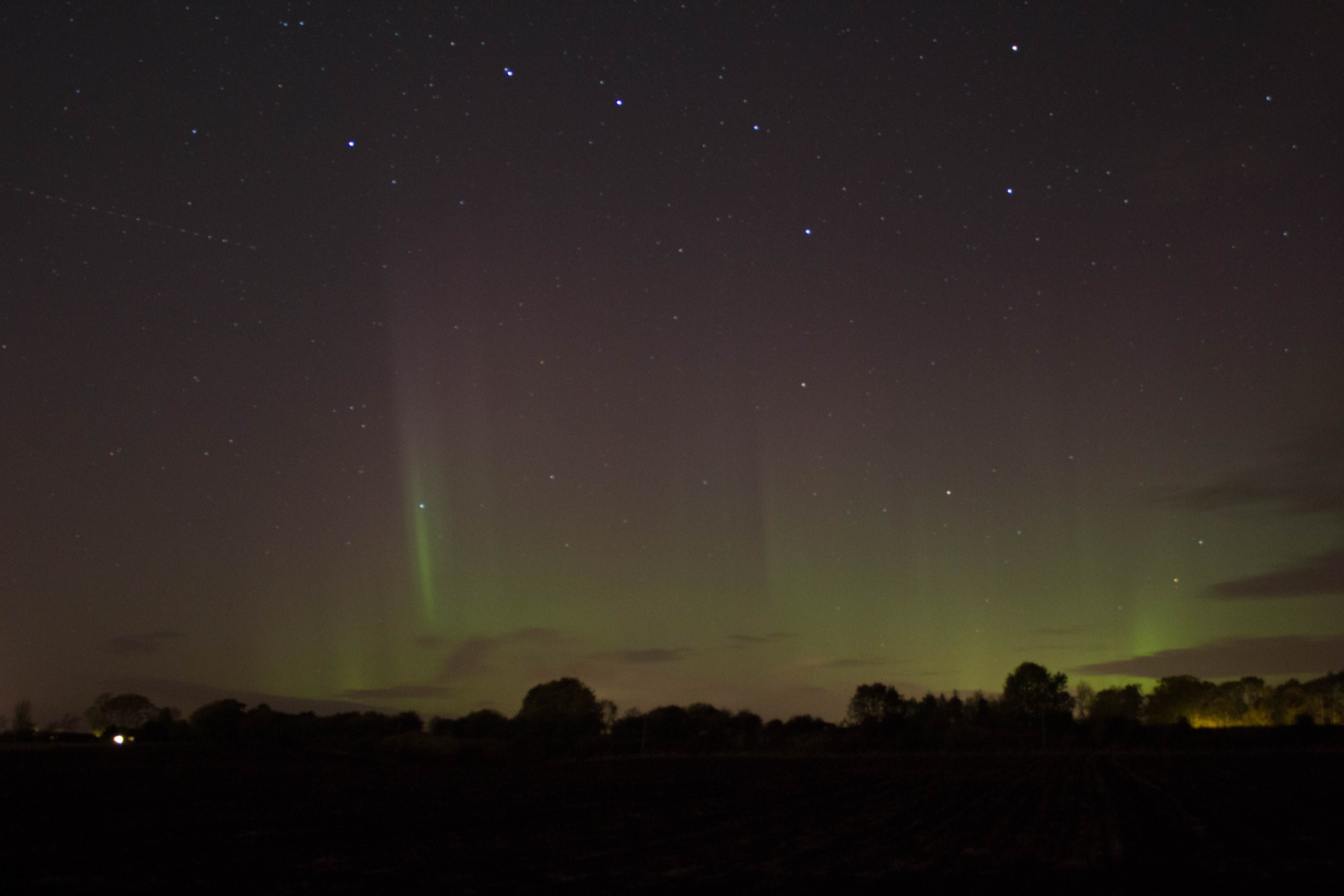 Aurora By Andy Heenan 26.10.16 20.09 Aurora By Andy Heenan.  Camera Canon EOS 600D. f/4  20seconds ISO-1600. The only aurora submitted this year (so far when published)