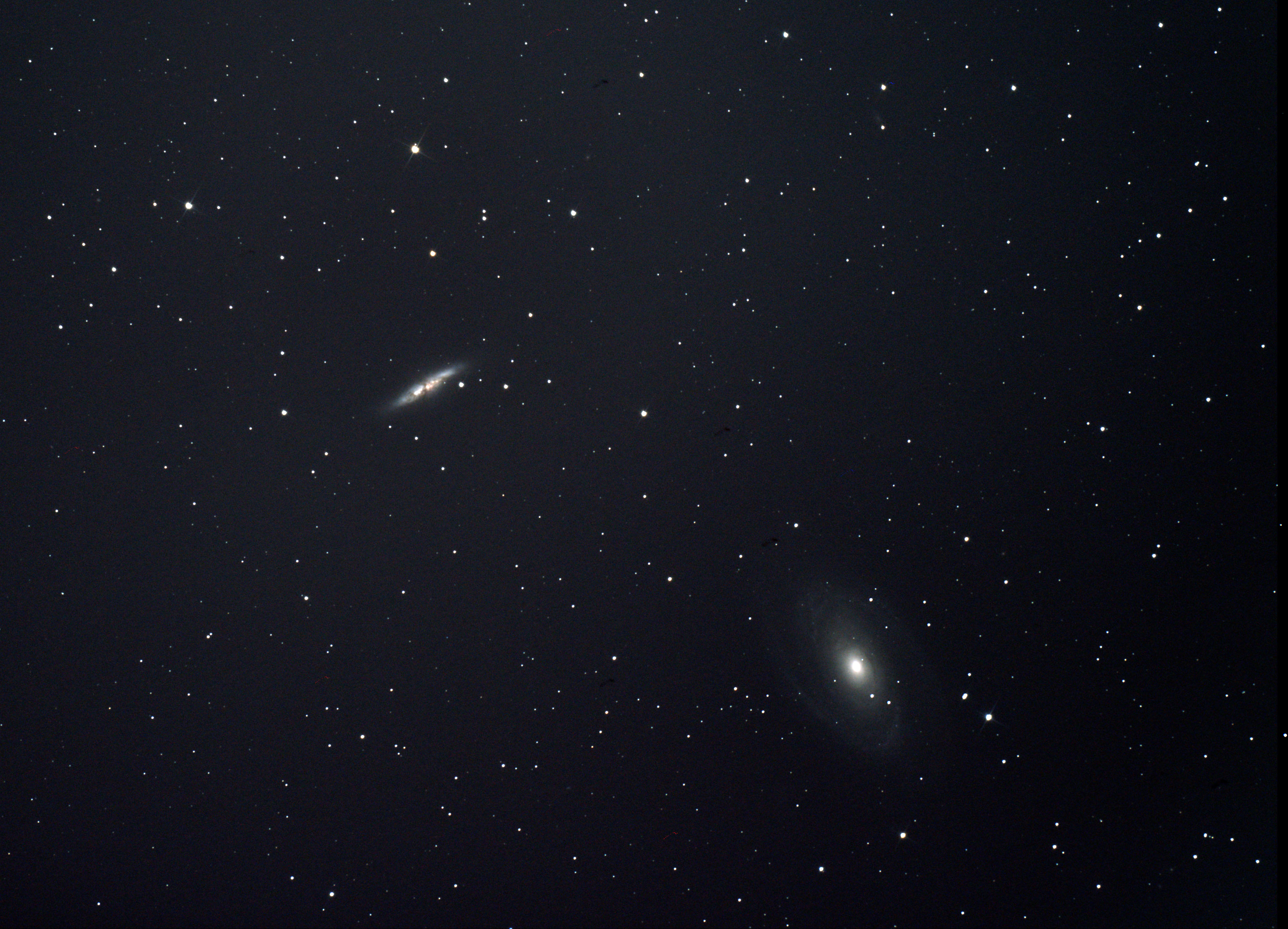 M81 & M 82 by Ken Kennedy Ken has added a close-up of this image featuring M82 and is shown later.