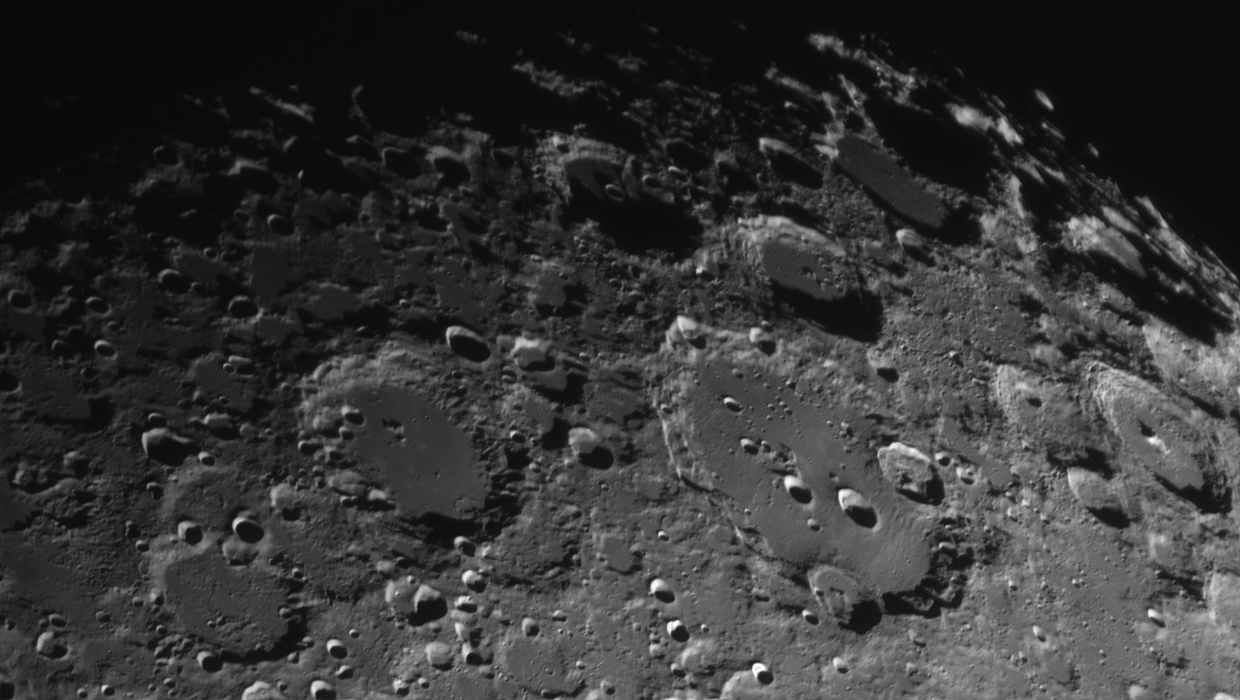Nice detail of Clavius 4th March 2020 by Phil Rourke
