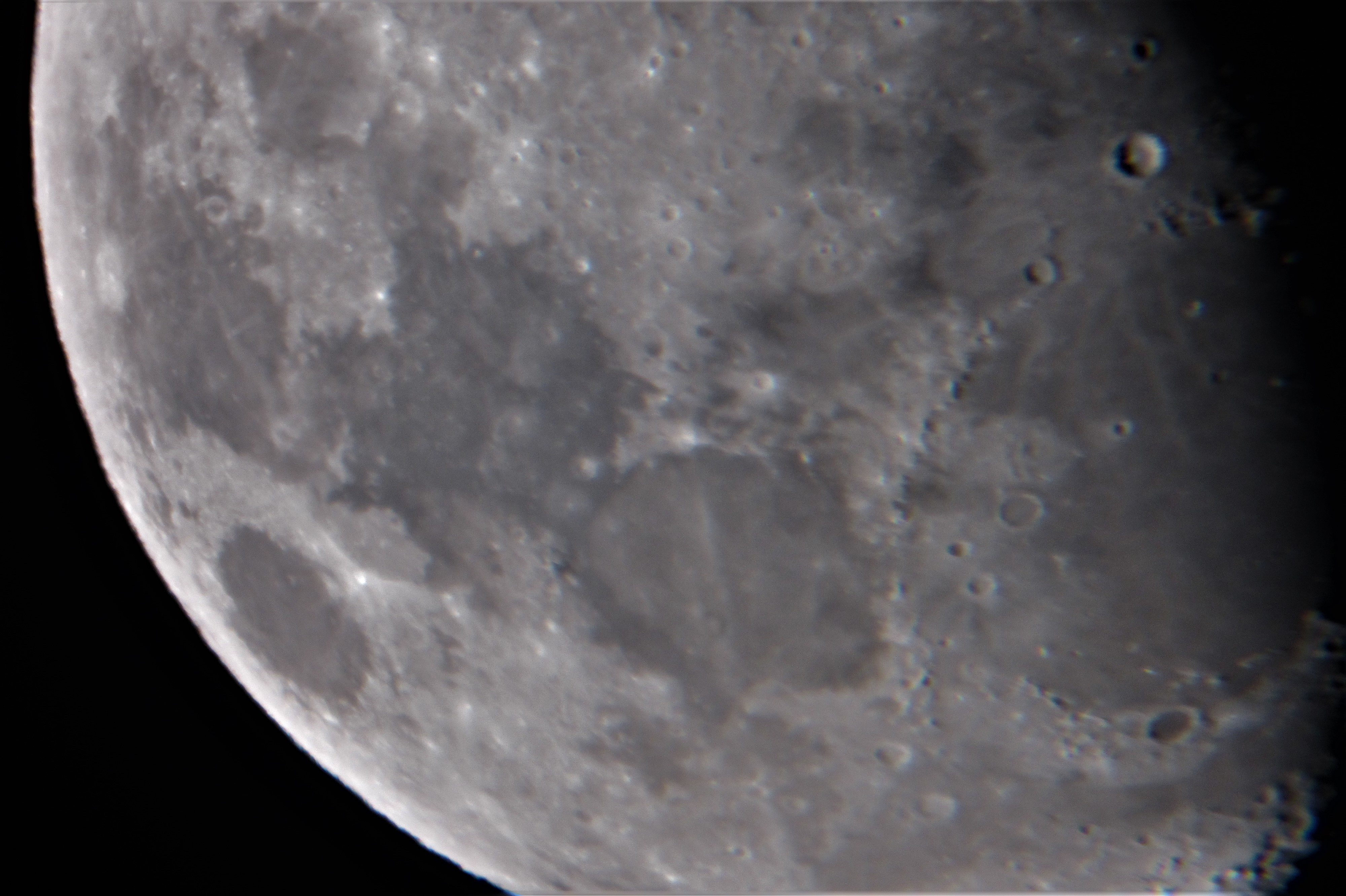 Final image of the moon from Bill.  (Seventh image is being kept in reserve). Thanks Bill nice pictures.