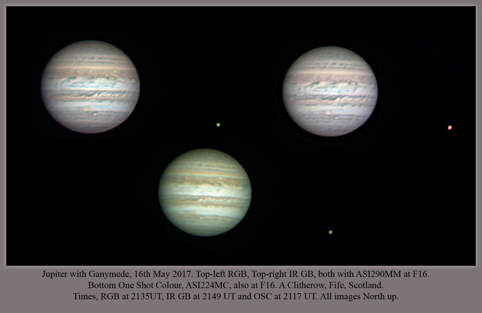 Jupiter collage by Alan Clitherow 16th may 2017