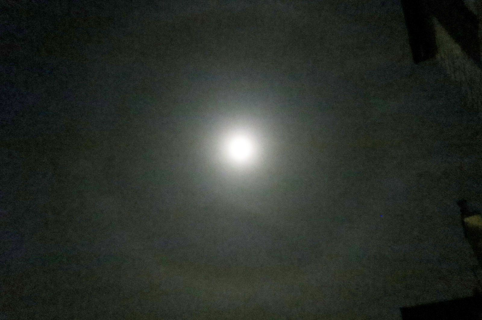 Lunar Halo by Bill Samson 09.03.17  21.56.  Canon PowerShot S200  f/2 - exposure 1/8 second ISO-1600.