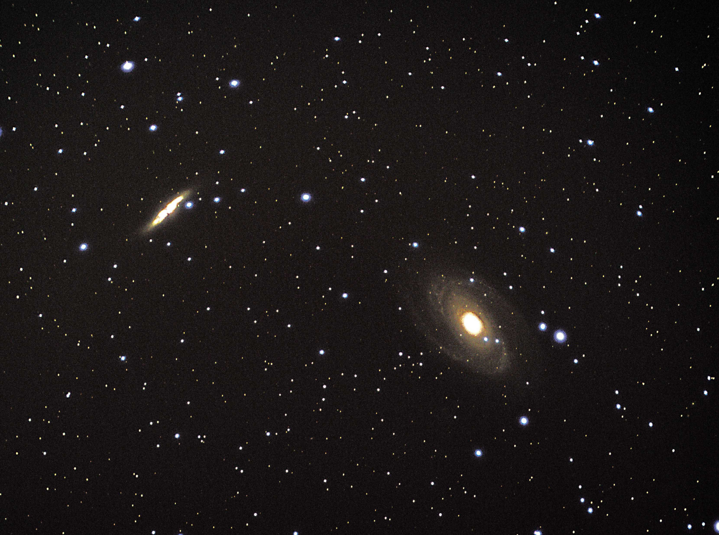 M81 and M82  By Ken Kennedy  01/03/17 Canon EOS 100D. A series of images stacked