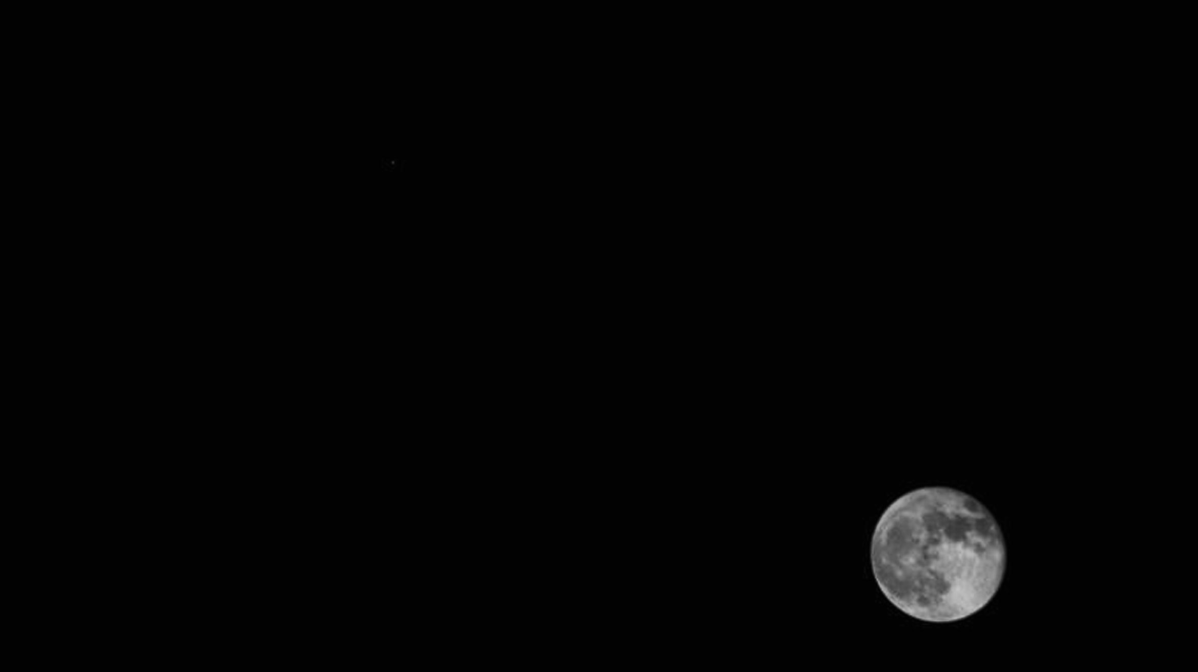 "Moon & Jupiter  24 Feb 2015. 00.25UT. Canon EOS-1200D ISO-1600  f/15 1/2000 seconds. After I had adjusted brightness & contrast in Photoshop I discovered a nifty little proggy called  ""Black Frame"" and took a black exposure for 1/2000 second and applied this to the original picture just to see how effective it was at eliminating hotspots.  I can say this was a simple and fast 3 click operation and eliminated all hotspots."