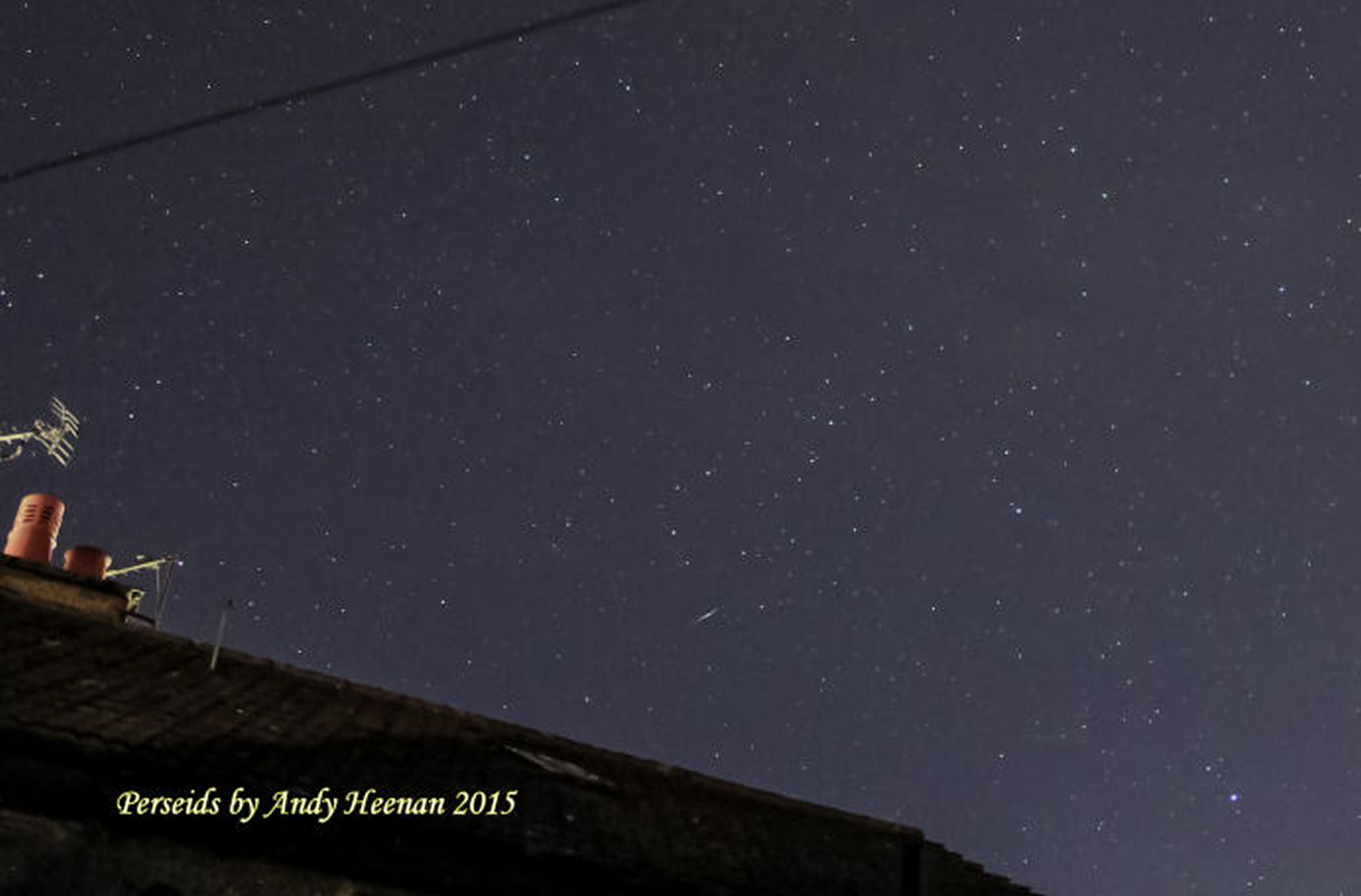 More Perseids By Andy Heenanan. f/3.5.  ISO 3200 15 second exposure