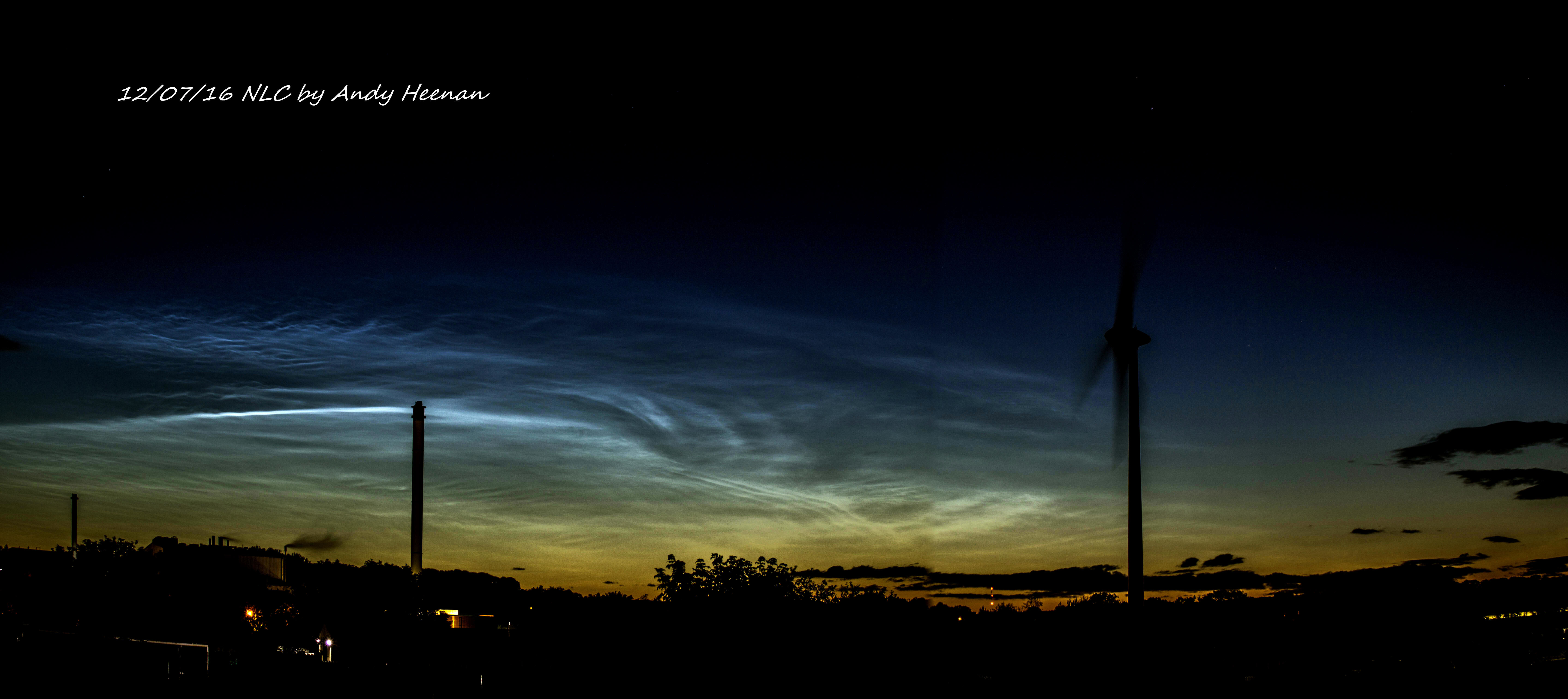 A new panoramic view of NLC by Andy Heenan taken on 12th July.