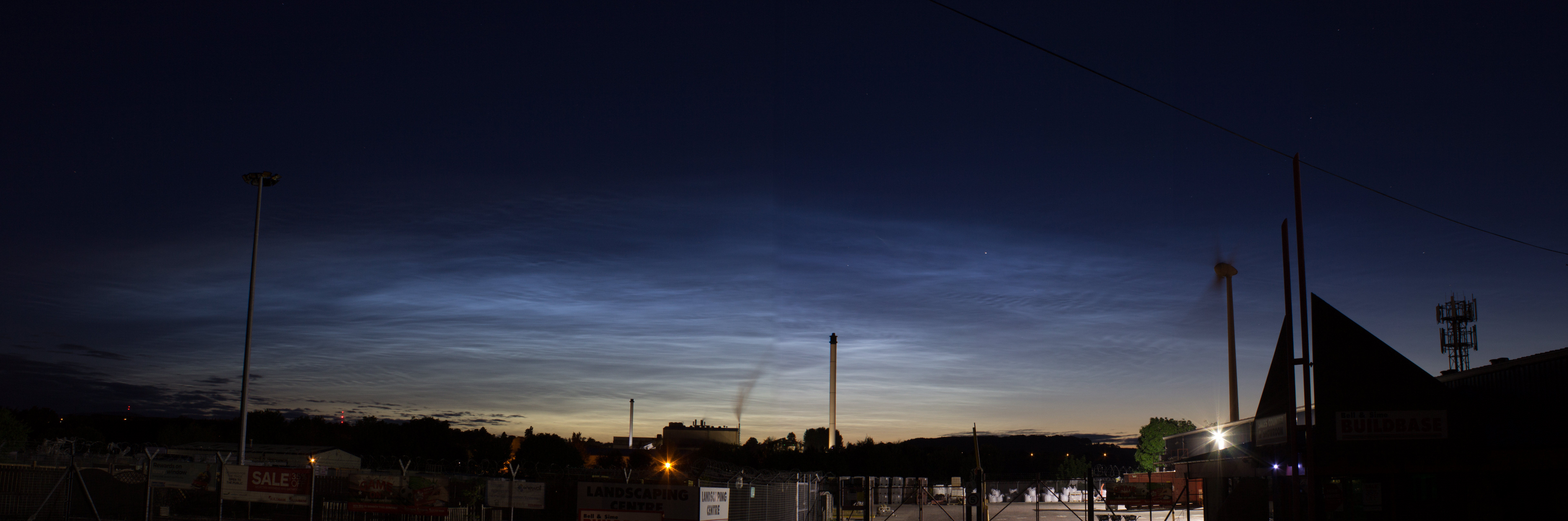 "Noctilucent clouds. 2nd 3rd May 2016 By Andy Heenan. Ken was happy.  ""The first confirmed sighting this year,""  He said. ""Great shot, Andy."""