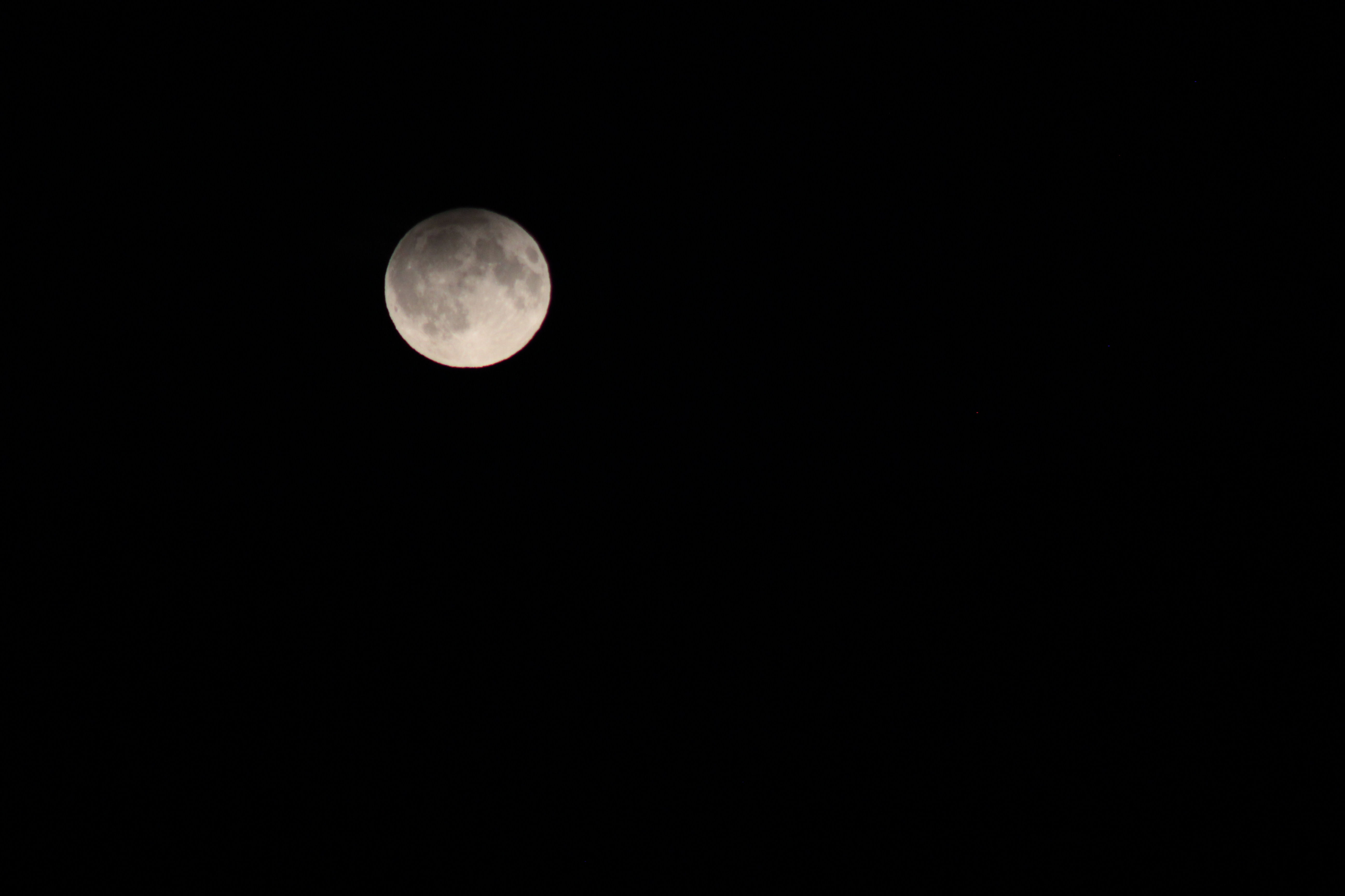 Penumbral Lunar Eclipse by Pam Foster. 16.09.16 20.11.  Canon EoS 600D f/5.6 : ISO-800 1/640 second