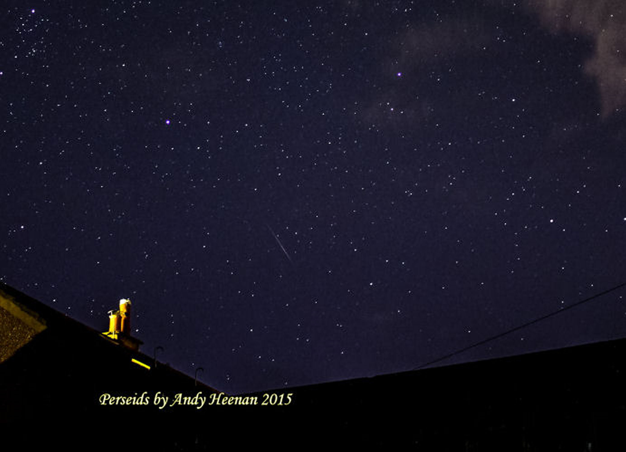 Perseid By Andy Heenanan. f/3.5.  ISO 3200 15 second exposure