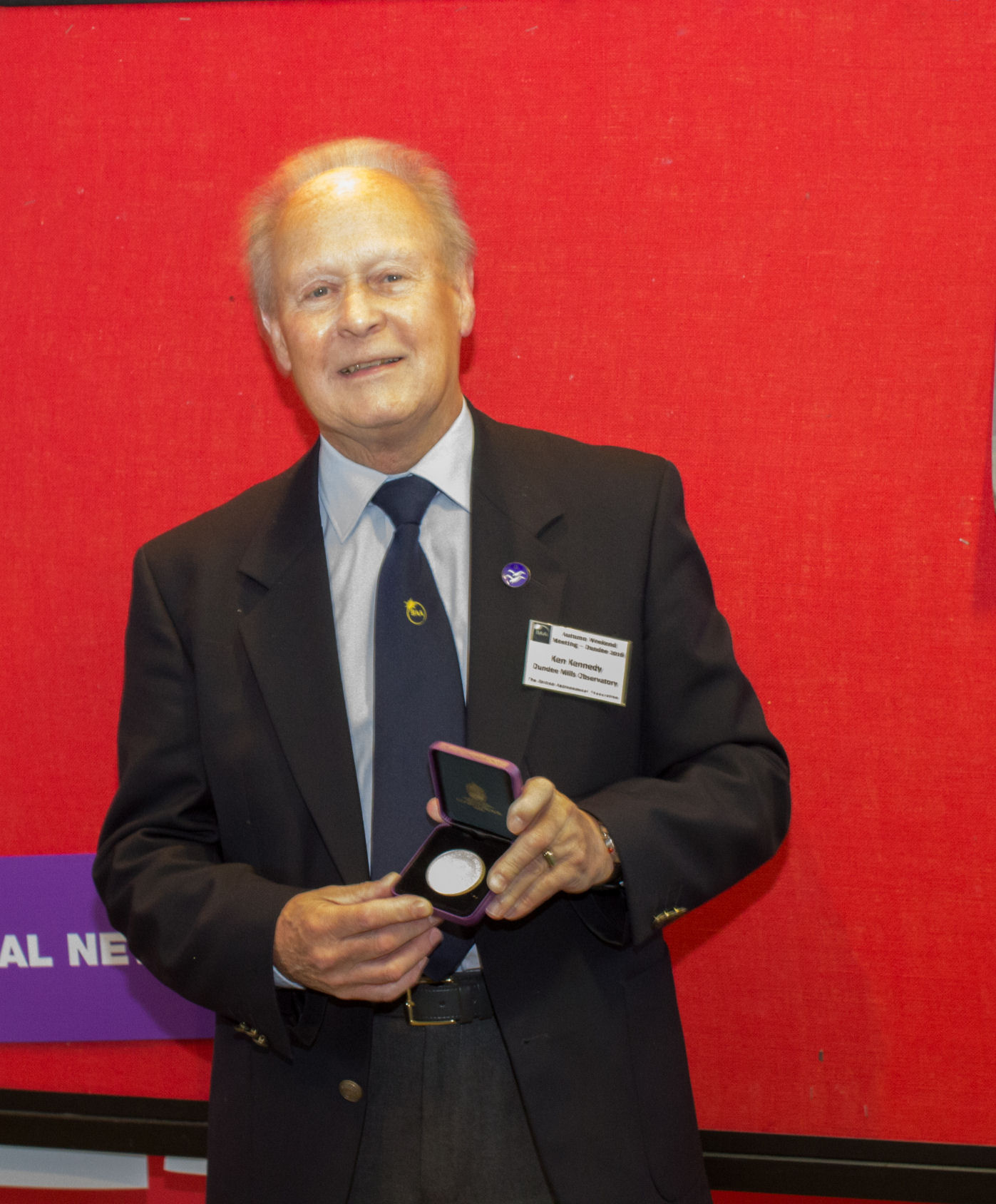 Ken with his Lydia Brown Medal.  Congratulations, Ken, on a well deserved award